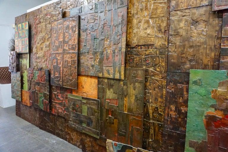Massive Mixed-Media Abstract Composition by Ricardo Santamaria 2