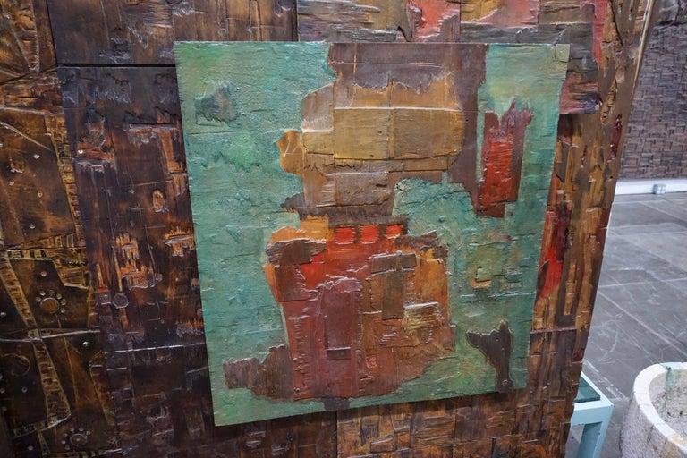 Massive Mixed-Media Abstract Composition by Ricardo Santamaria 3