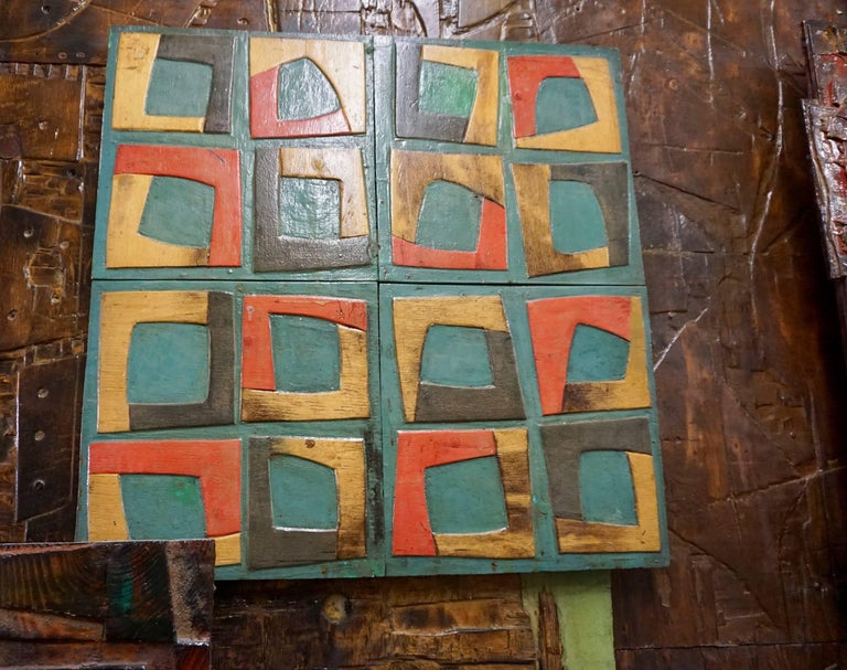 Massive Mixed-Media Abstract Composition by Ricardo Santamaria 6