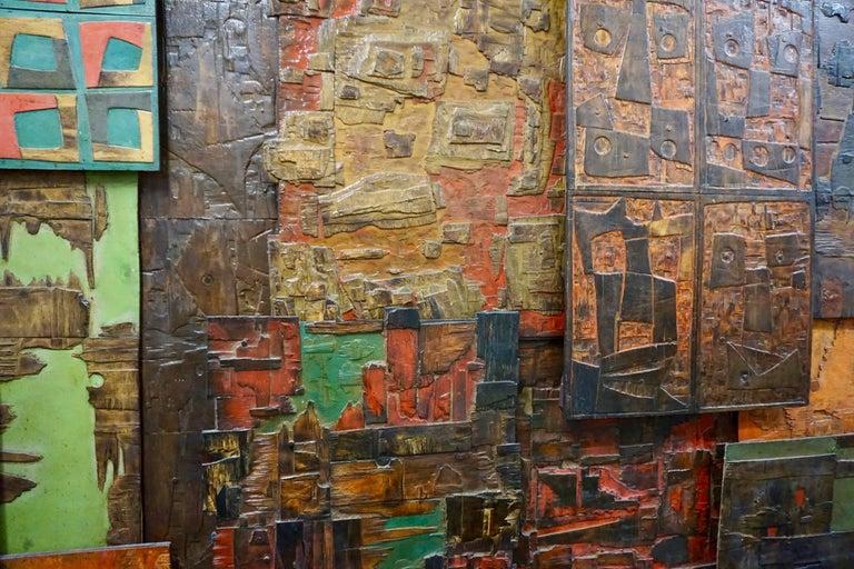 Massive Mixed-Media Abstract Composition by Ricardo Santamaria 7