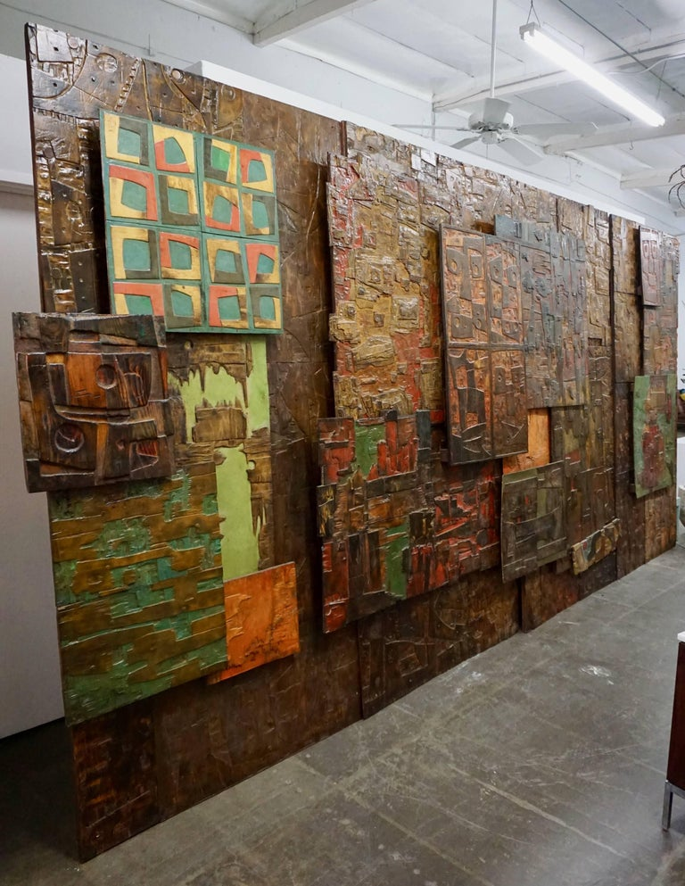 Massive Mixed-Media Abstract Composition by Ricardo Santamaria 9