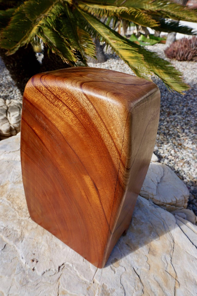 Hand Sculpted Wood Jewelry/Stash Box In Excellent Condition For Sale In Cathedral City, CA