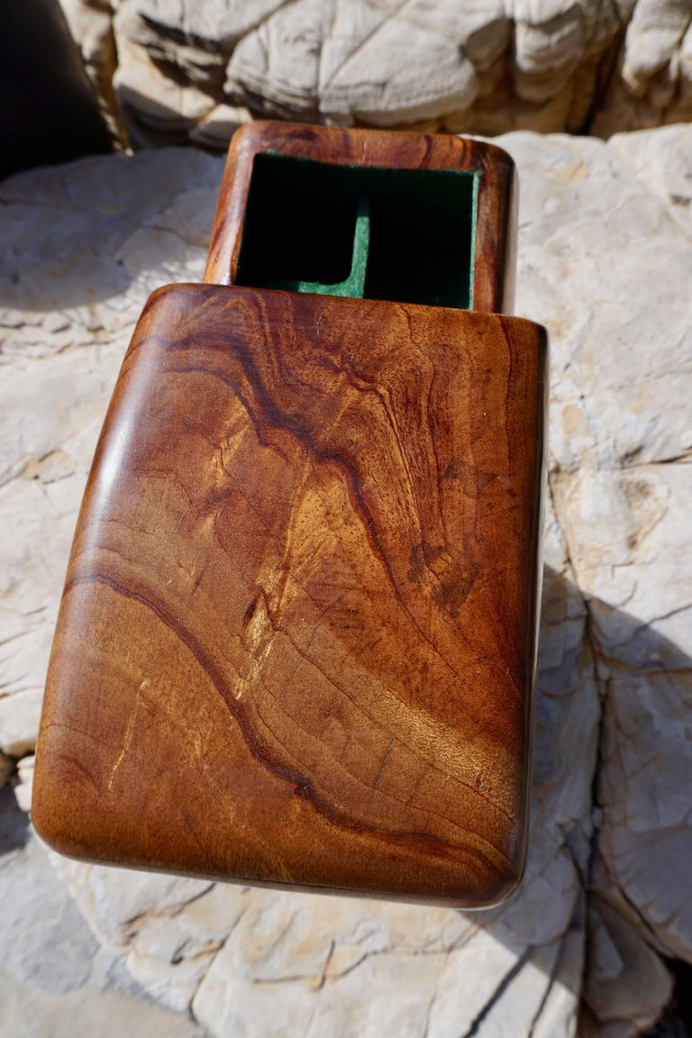 Mid-20th Century Hand Sculpted Wood Jewelry/Stash Box For Sale