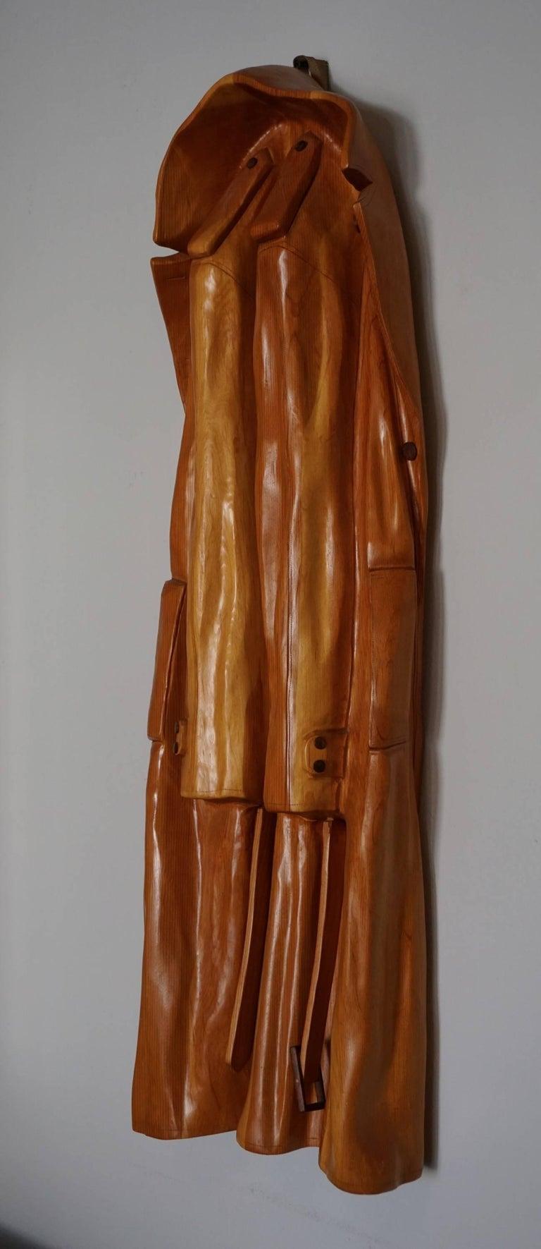 Pop Art Raincoat Sculpture by Rene Megroz 2