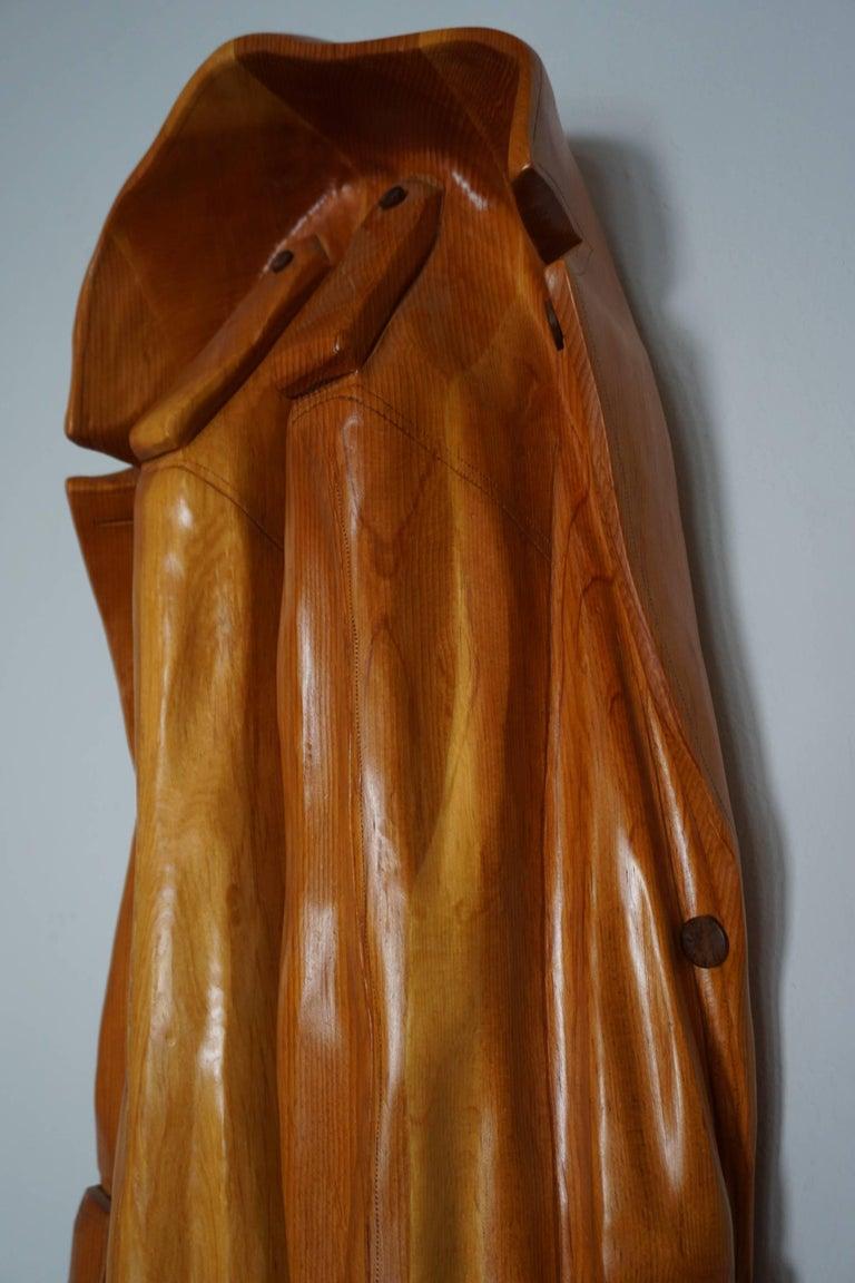 Pop Art Raincoat Sculpture by Rene Megroz 3