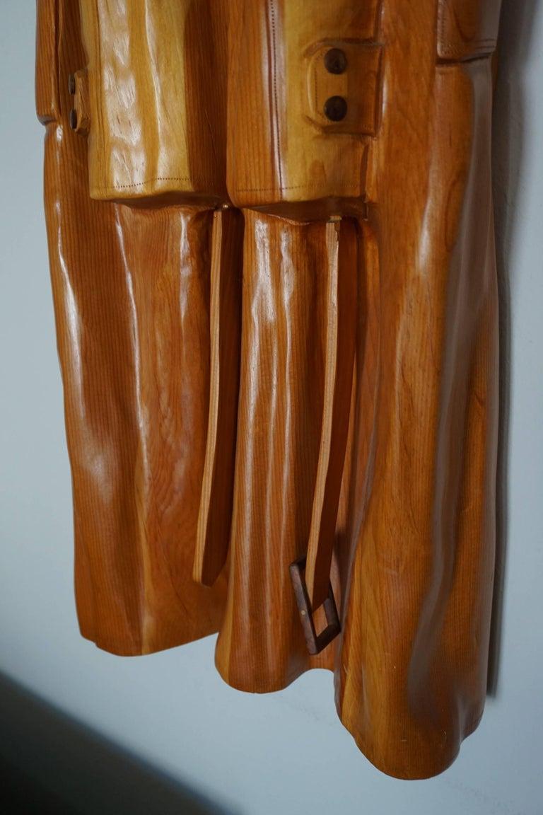 Pop Art Raincoat Sculpture by Rene Megroz 4