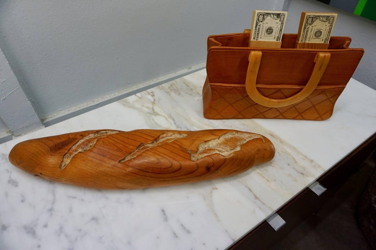 American Pop Art Loaf of Bread Sculpture by Rene Megroz For Sale
