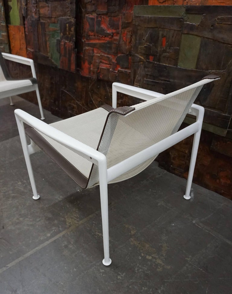 18th Century and Earlier Pair of Richard Schultz Lounge Chairs for Knoll For Sale