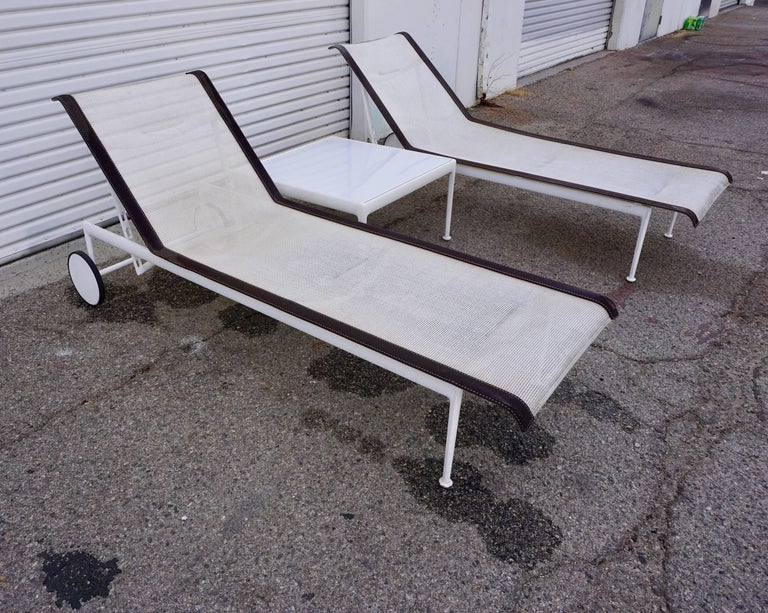 Pair of Richard Schultz Lounge Chairs for Knoll For Sale 3