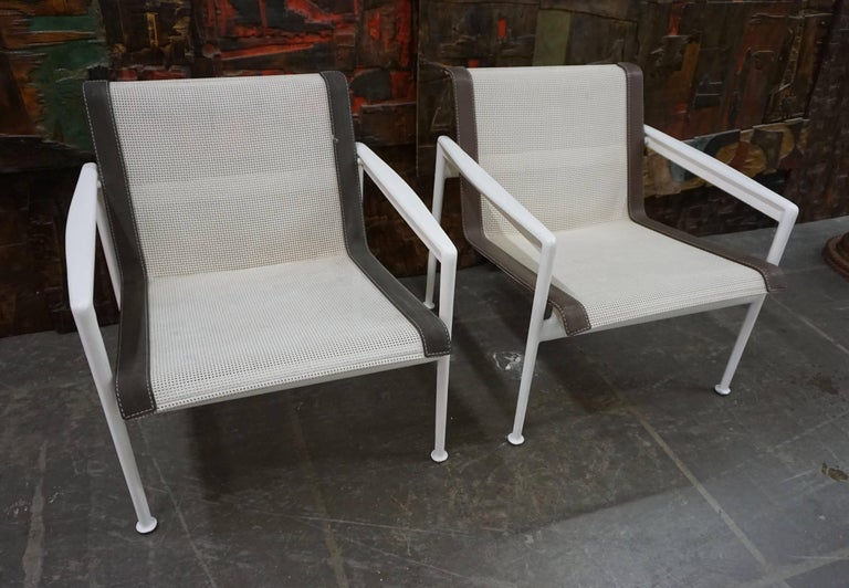 Pair of Richard Schultz Lounge Chairs for Knoll For Sale 6