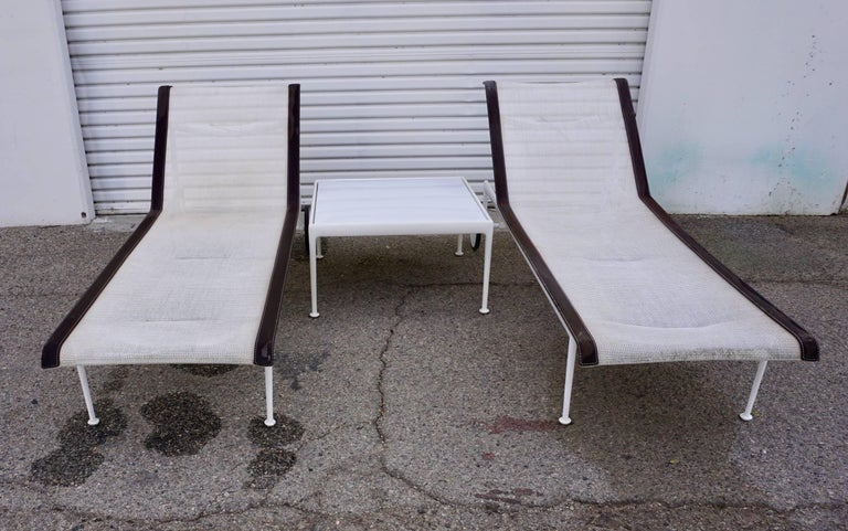 Pair of Richard Schultz Chaise Lounges for Knoll 4