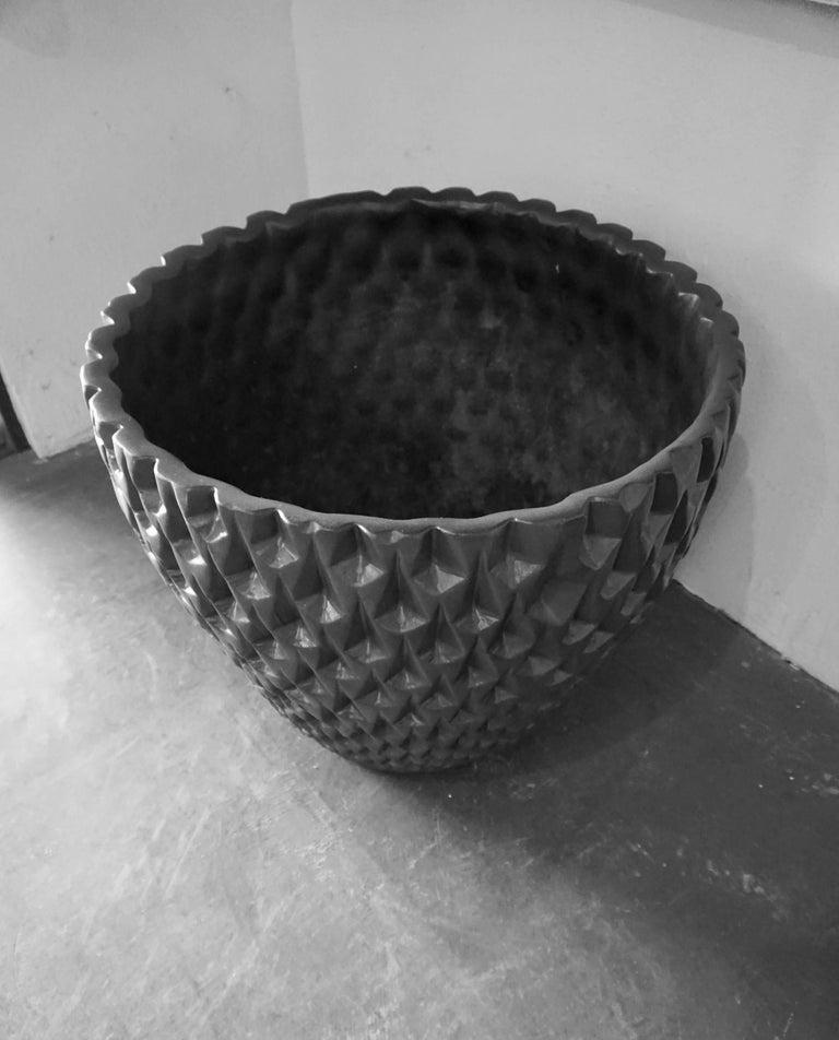 "Architectural Pottery Black ""Phoenix"" Pot by David Cressey 2"