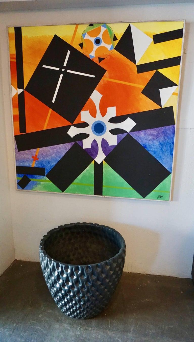 "Architectural Pottery Black ""Phoenix"" Pot by David Cressey 5"