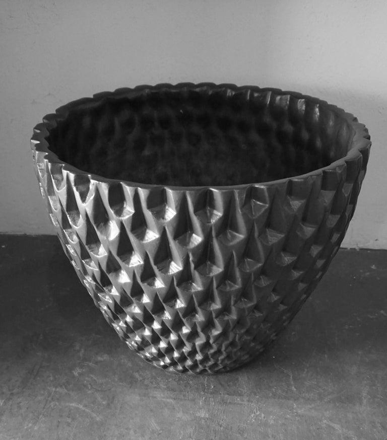 "Architectural Pottery Black ""Phoenix"" Pot by David Cressey 8"