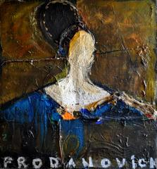 Large Mixed Media Abstract Portrait by Artist Vladimir Prodanovich