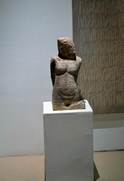 Carved Stone Sculpture of a Female Head and Torso 2
