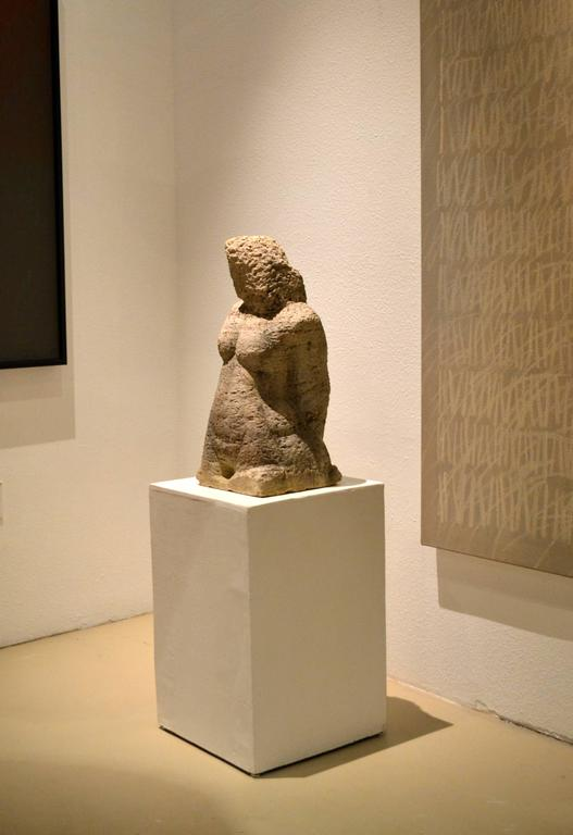 Carved Stone Sculpture of a Female Head and Torso 3