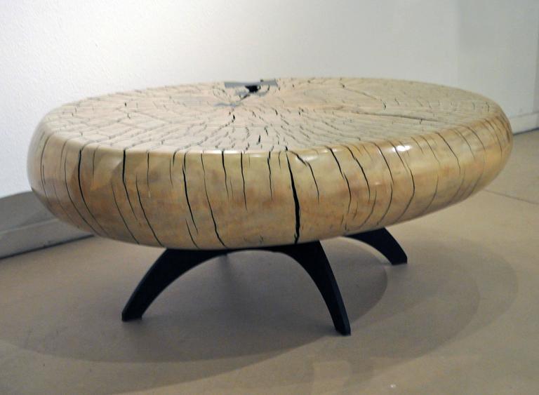 Mid-Century Style Cottonwood Table by Artist Daniel Pollock 2