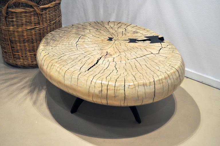 Mid-Century Style Cottonwood Table by Artist Daniel Pollock 4