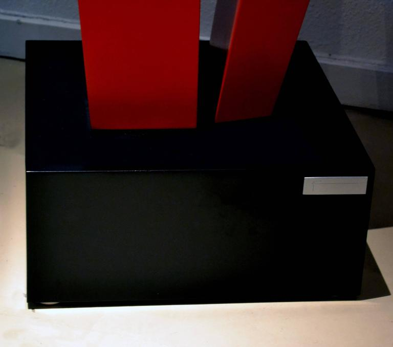 Powder-Coated Abstract Aluminium Sculpture by Robert Marion For Sale