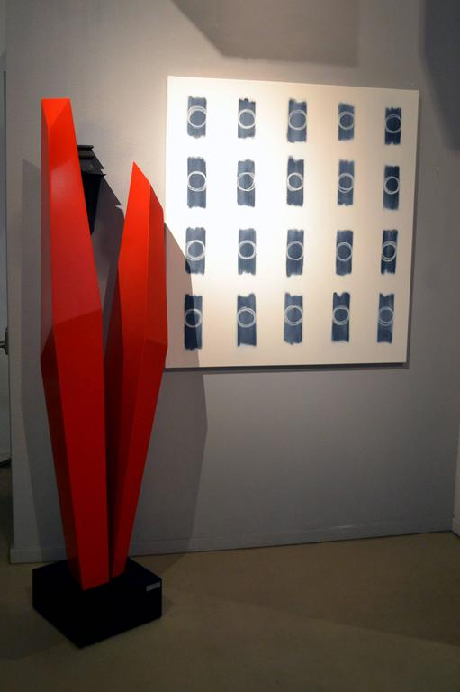 Abstract Aluminium Sculpture by Robert Marion In Excellent Condition For Sale In Cathedral City, CA
