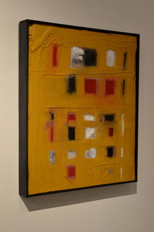 American Abstract Mixed-Media Painting by Artist John Luckett For Sale