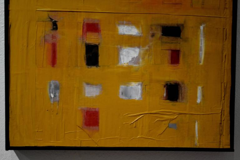 Painted Abstract Mixed-Media Painting by Artist John Luckett For Sale