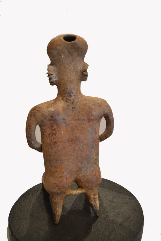 Large Pre-Columbian Nayarit Seated Male Figure Sculpture 5