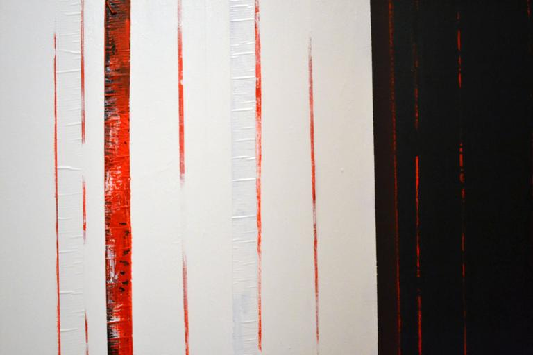 Artist Sean Young, spent many years studying art in Paris and Italy before settling in Southern California where he lives and continues to work. This pair of abstract mixed media paintings is titled Basic Elements one and two. The works can be