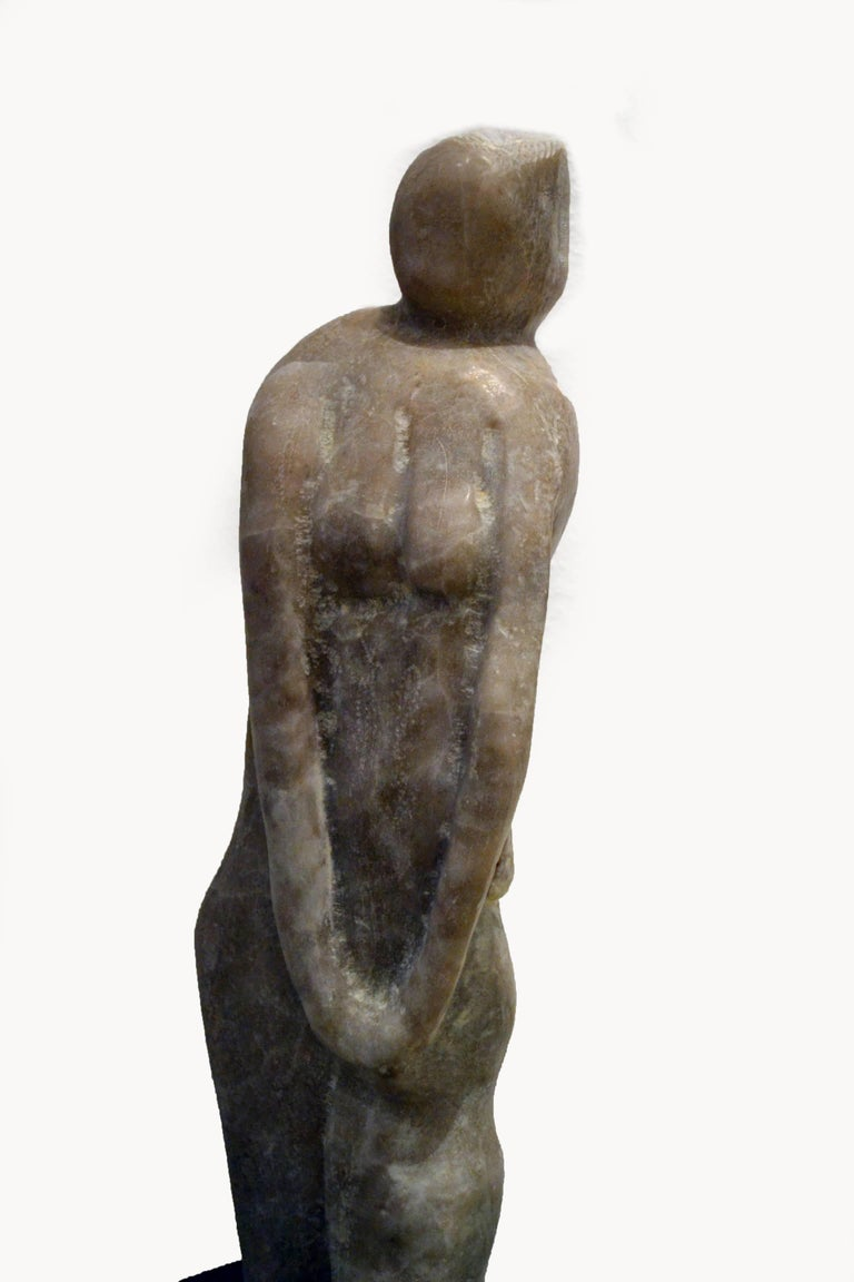 Vintage Abstract Marble Female Sculpture by Hyam Fink 2