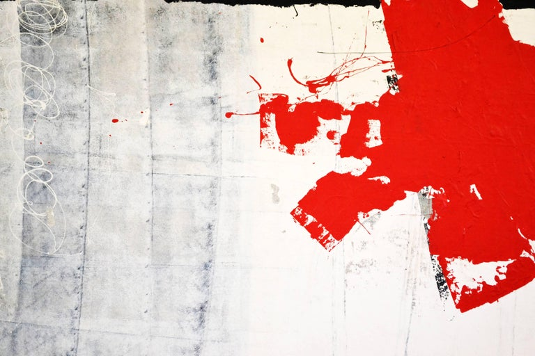 American Large Abstract Mixed Media Painting by Christopher Aka Cyrstofer Shoemaker For Sale