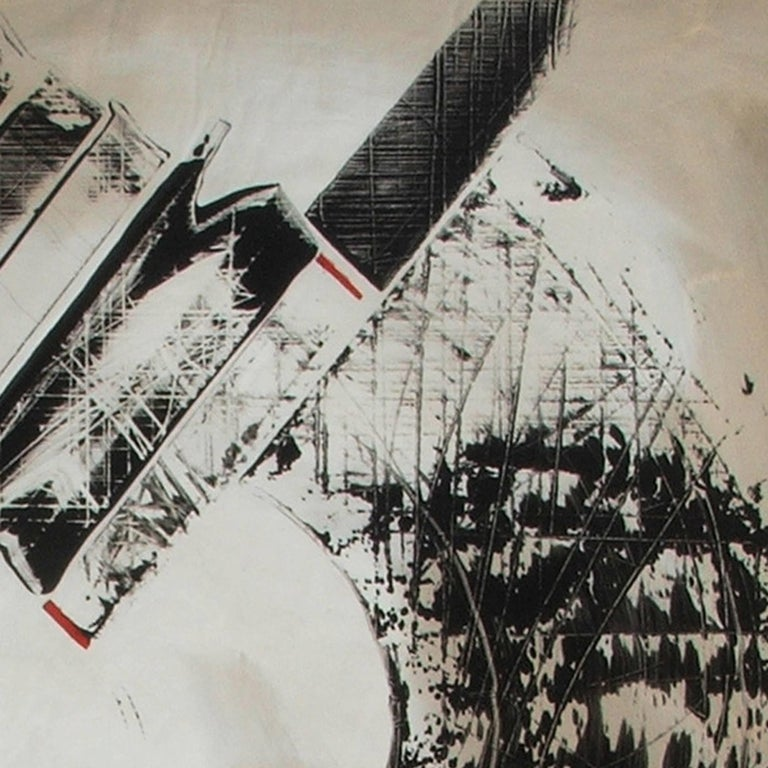 American Abstract Painting Titled Urban Exposure No. 11 by Philippe Chambon For Sale
