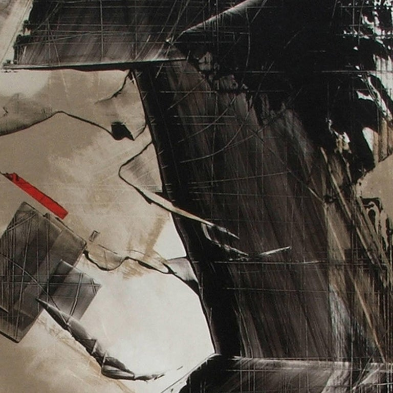 American Abstract Painting Titled Urban Exposure No.12 by Philippe Chambon For Sale