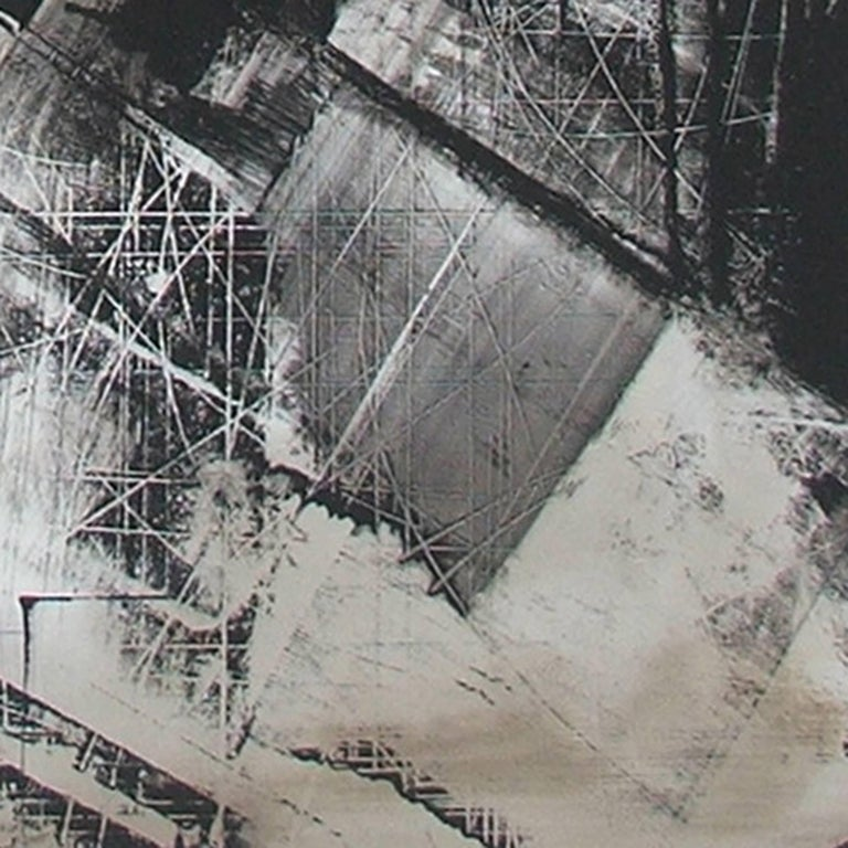 American Abstract Painting Titled Urban Exposure No. 17 by Philippe Chambon For Sale