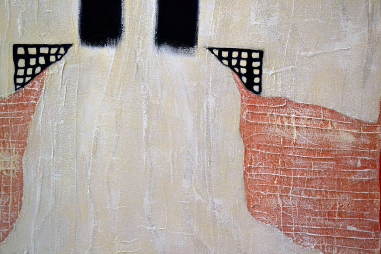 Painting of White Kimono with Cheese Cloth by Jane Evans 2