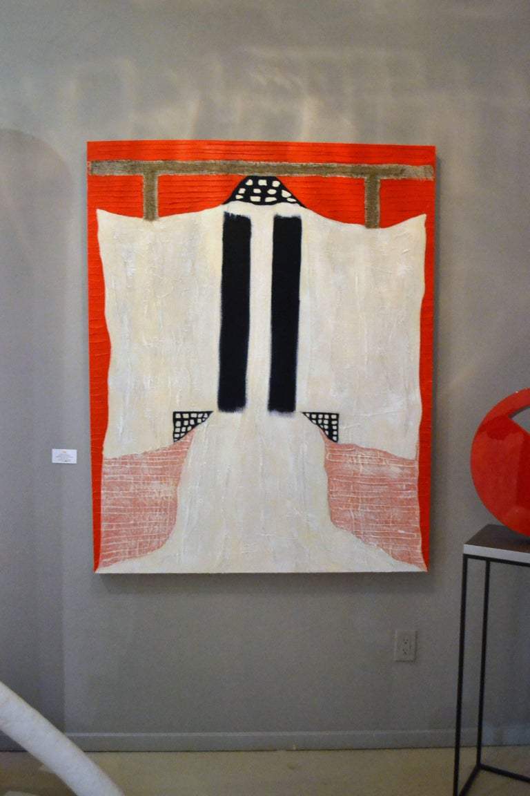 Painting of White Kimono with Cheese Cloth by Jane Evans 4