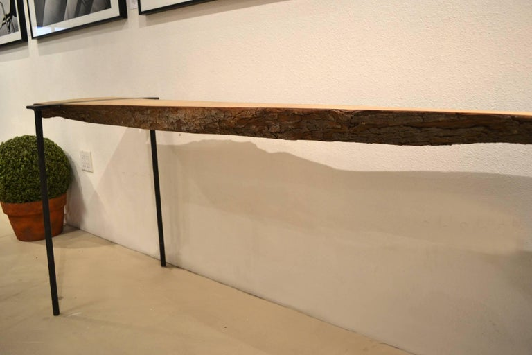 Charles Green Life Edge Wood Slab and Steel Console Table 2