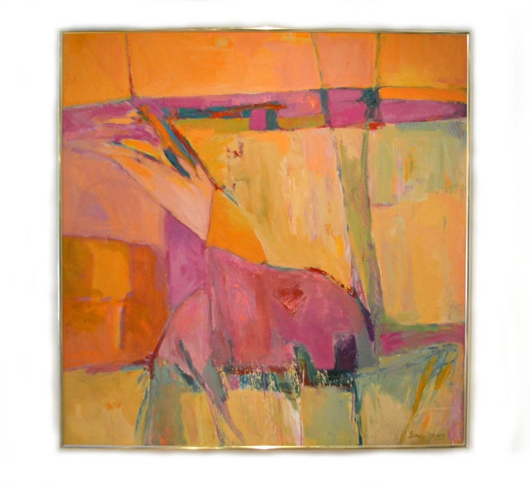 Painted Abstract Expressionist Titled Landscape Series - Spain No. 1 by Sean Young For Sale