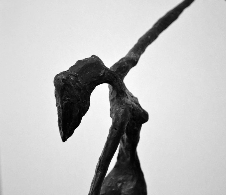 Forged Vintage Bronze Abstract Sculpture of Female Dancers, After Alberto Giacometti For Sale