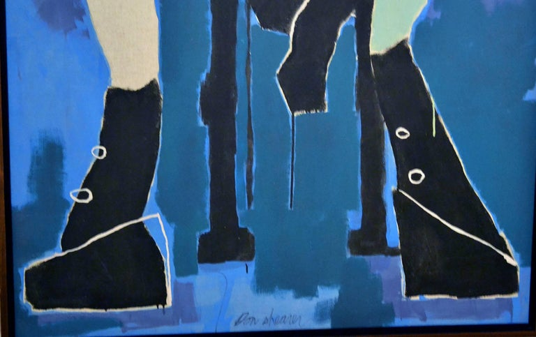 American Large Abstract Figurative Painting by Miami Artist Don Shearer For Sale