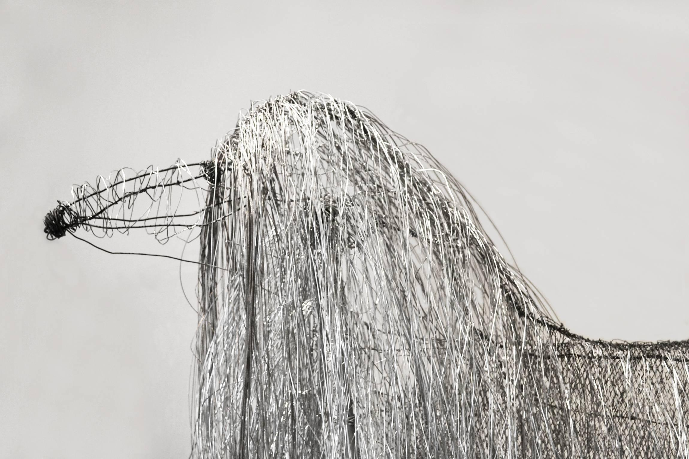 Large Wire Sculpture of an Afgan Hound by Artist Michael L. Jacques ...