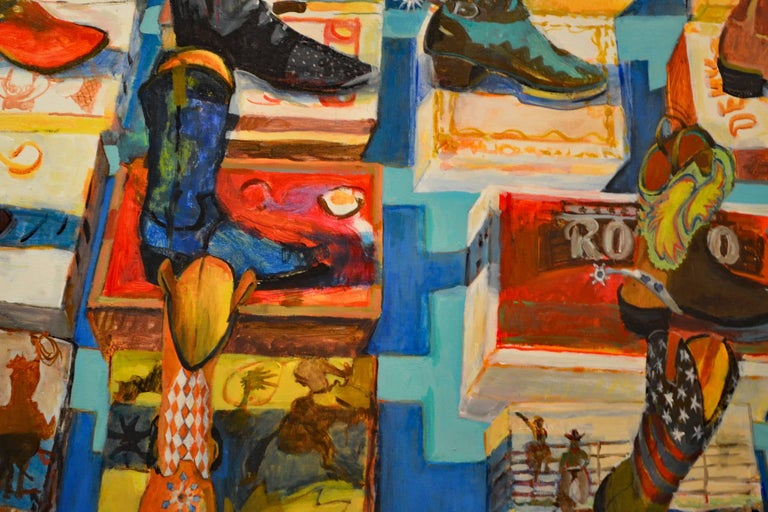 Expressionist Painting Titled Remembering Roy & Dale by Michael L. Jacques 2