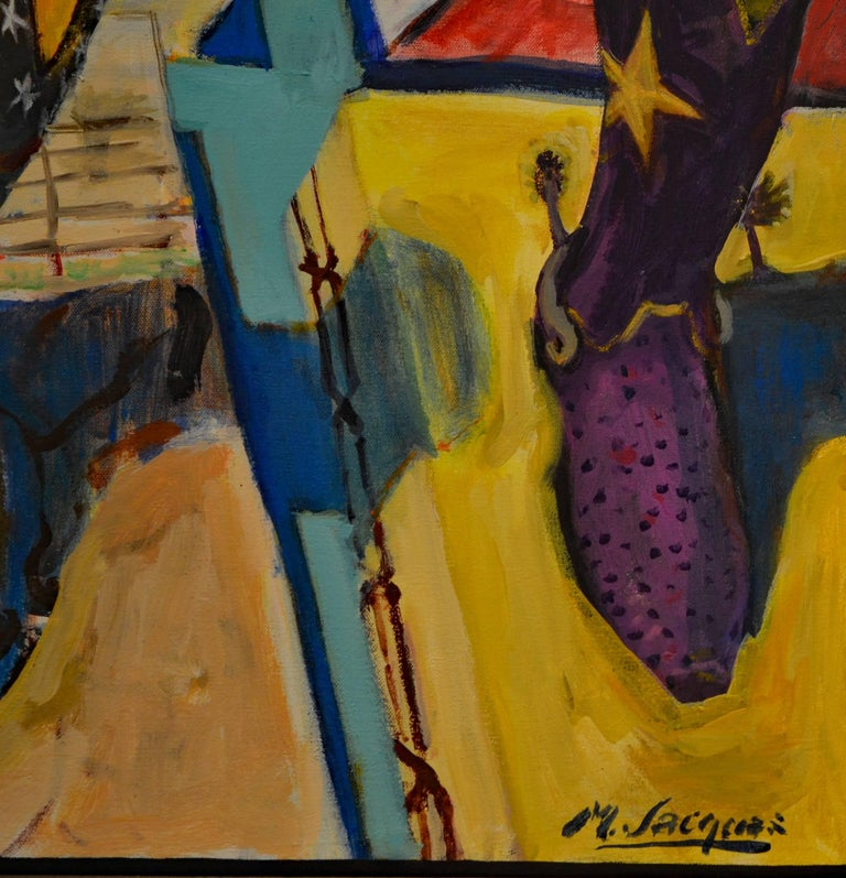Expressionist Painting Titled Remembering Roy & Dale by Michael L. Jacques 3