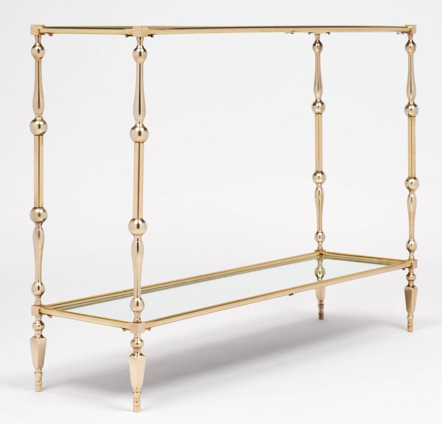 french mid century brass console table at 1stdibs