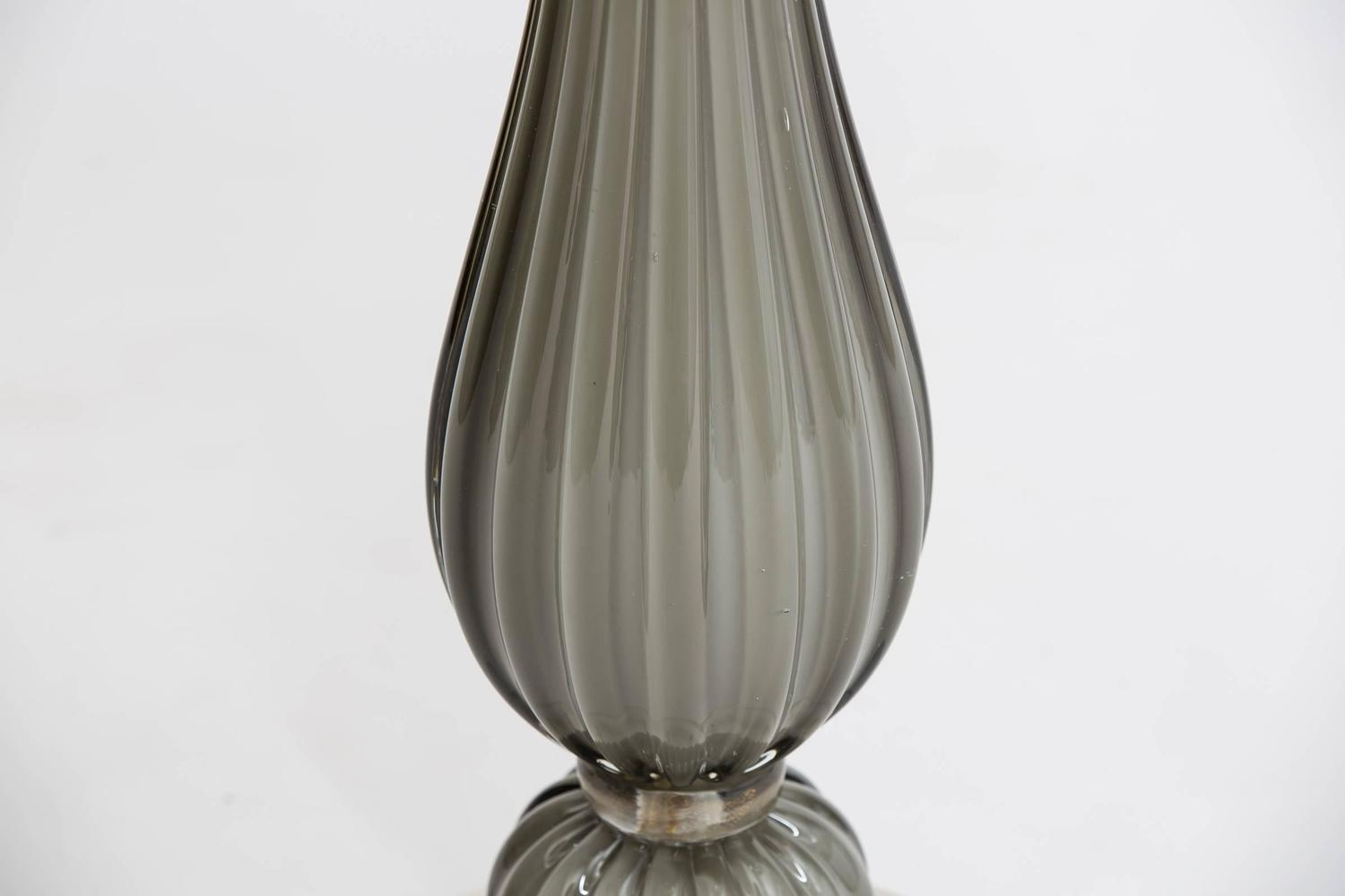 Murano Glass Lucite Base Table Lamp For Sale At 1stdibs