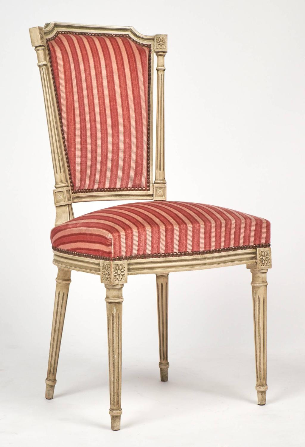 Antique Louis XVI Set Of Six Dining Chairs Circa 1880 At 1stdibs