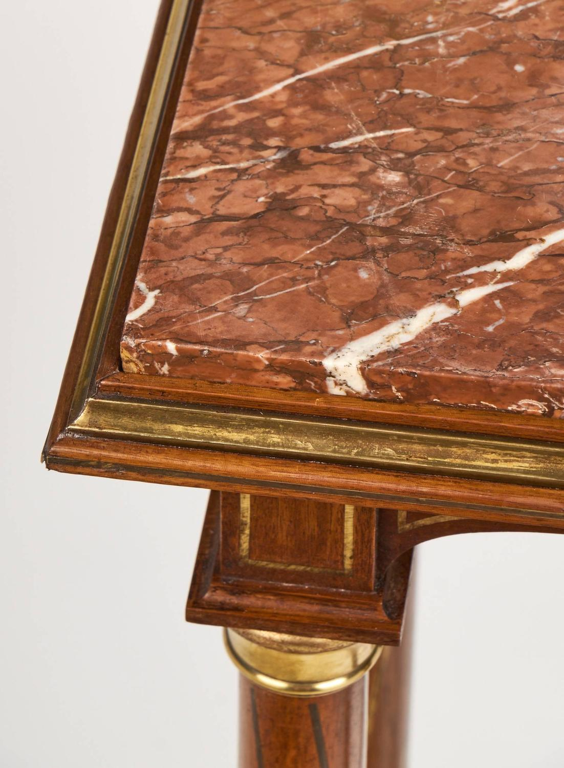 Red Marble Top : Antique french empire style red languedoc marble top