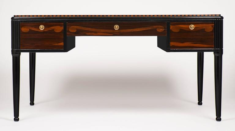 French Art Deco Desk in the Manner of André Groult In Excellent Condition For Sale In Austin, TX
