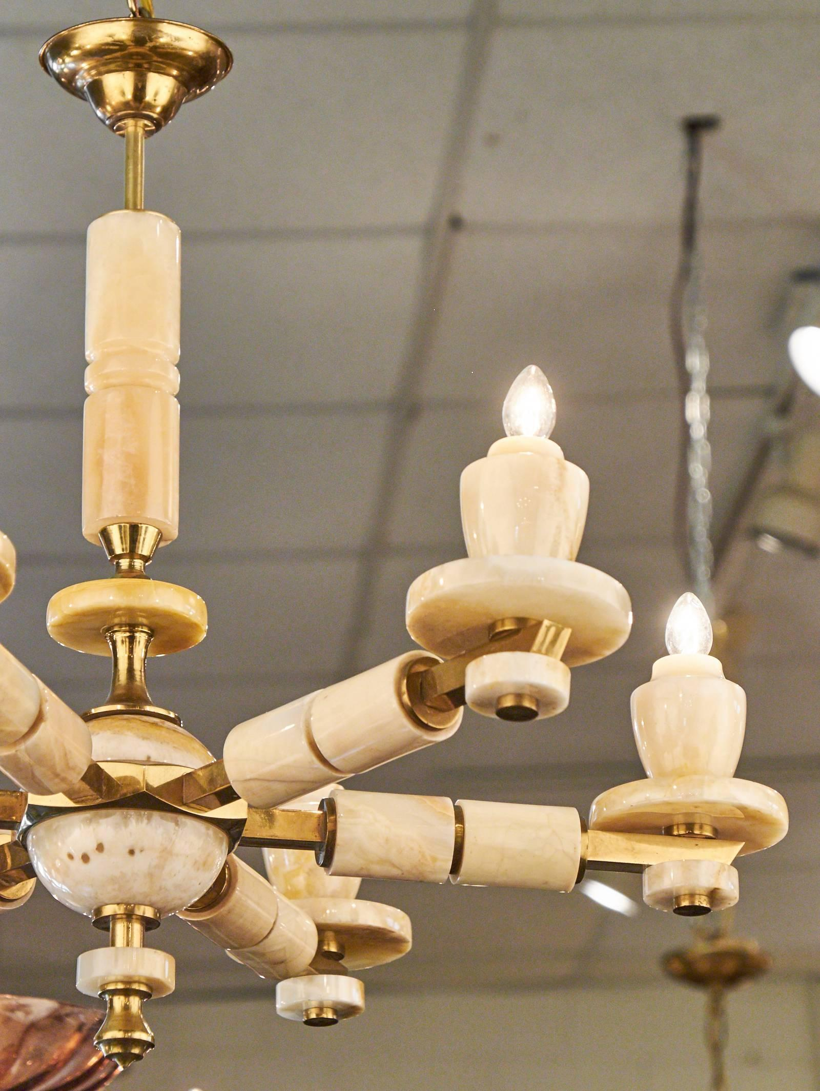 Italian vintage onyx chandelier for sale at 1stdibs aloadofball