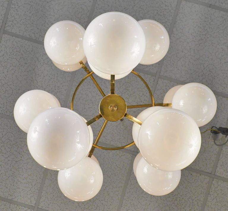 Crystal Chandelier Replacement Globes: Mid-Century Modern Murano Glass Globe Chandelier For Sale